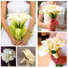 10 pcs artificial calla lily bridal bouquet wedding home decor