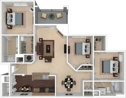 floor plan with 3 bedrooms floorplans the preserve at forest creek