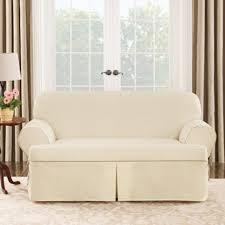 sofa cover t cushion sure fit cotton duck t cushion sofa cover walmart com