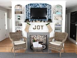 coastal christmas mantel decorating ideas diy