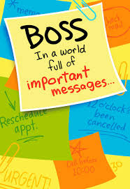 important memo boss u0027s day card greeting cards hallmark