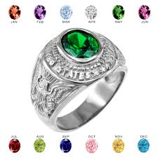 november birthstone jewelry white gold us army men u0027s cz birthstone ring
