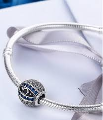 european silver charm bracelet images Sterling 925 silver charm eyes of nazzar bead pendant png