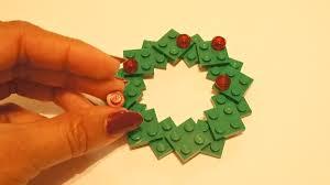 diy lego wreath photo ornament craft honey lime