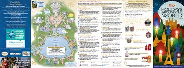 Disney World Epcot Map Epcot Holiday U0027s Around The World Guide Map Released Blog Wdwfans