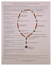seven sorrows rosary 7 sorrows rosaries on 7 sorrows rosary prayer chart