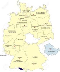 Map Og Germany by Map Of Germany National Boundaries And National Capitals State
