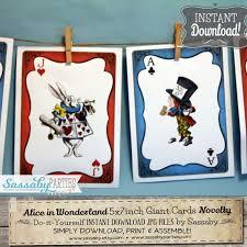 Alice In Wonderland Baby Shower Decorations - alice in wonderland giant cards instant download printable