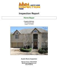 house inspection report sample inspection services austin texas austin home inspection team you moving forward in the process of buying your home we ve shared a sample report here on our website simply click the image to view our report