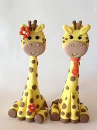 cake toppers giraffe or boy gumpaste baby shower animals
