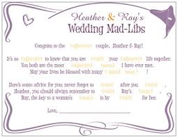 Matron Of Honor Poem Mad Libs Hayley U0027s Wedding Tips 101