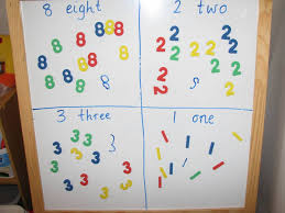 list of number activities learning 4 kids