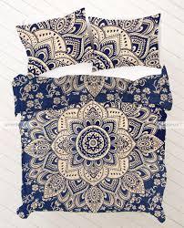 Dark Blue Duvet Twin Dark Blue And Gold Mandala Bedding Duvet Covers