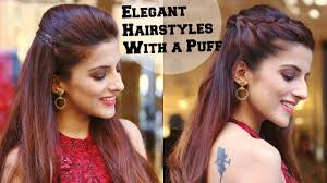 2 min elegant hairstyles with a puff for a cocktail party