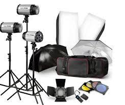 studio lighting equipment for portrait photography 750w studio flash lighting kit photography strobe light stand 3x250