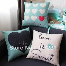 tiffany home decor 3pcs lot vintage design 18 45cm tiffany blue love heart linen