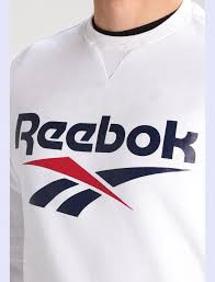 material well men reebok classic vector sweatshirt white