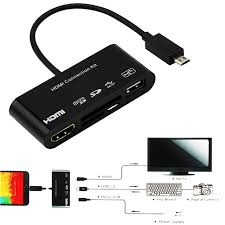Otg Hdmi 5 In 1 Micro 11p 11 Pin Micro Usb To Hdmi Converter Cable Connection