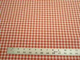 Red Plaid Upholstery Fabric P Kaufmann Highland Check Color Orange Drapery Or Upholstery