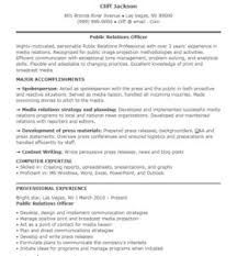 Sample Resume For Public Relations Officer by Free Sample Public Relations Resumes Sample Format
