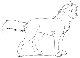 anime wolf coloring pages printable of wolf coloring pages 8322