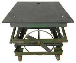 sold out industrial slate top adjustable coffee table 1 750