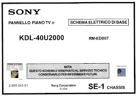 sony kdl40u2000 se 1 service manual download schematics eeprom