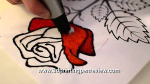 how to draw a rose 3d pen scribbler v3 youtube