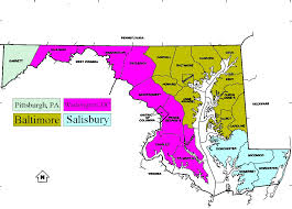 Maryland Usa Map by Maryland Dma Map 23 Vector With Maryland Dma Map Maps Of Usa