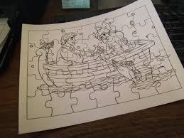 robbygurl u0027s creations diy print color u0026 cut jigsaw puzzles