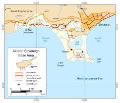 Detailed World Map Maps Of Akrotiri Detailed Map Of Akrotiri In English Road Map