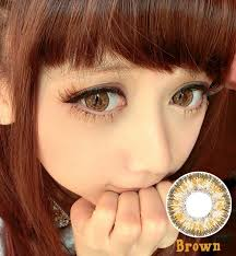 prescription cosmetic colored contact lenses angel eyes brown