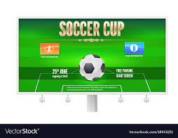 soccer cup billboard template with place for your vector image