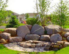 Boulder Landscaping Ideas Enhance Scenery At Home Through Boulder Landscape Design Garden