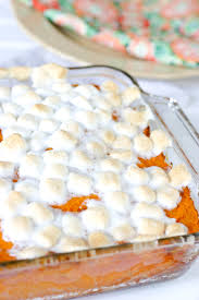 eclectic recipes easy sweet potato casserole with marshmallows