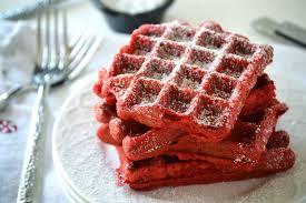 red velvet waffles what the fork