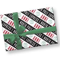 personalized gift wrapping paper personalized gift wrap label circus
