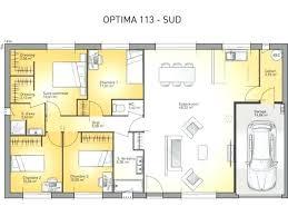 plan maison 3 chambre plan maison plain pied 3 chambres psicologiaclinica info