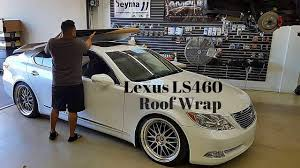 lexus white ls lexus ls460 glossy black roof wrap on starfire pearl white youtube