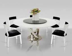 dining room modern round table great inch marble on home pictures