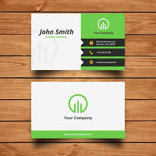card design corporate green business card design vector free
