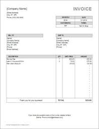 Flooring Invoice Template by A Free Invoice Template For Microsoft Word For