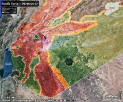 Syria Map Control by Map Of Southern Syria After Us Backed Rebels Reach Deir Ezzor Border