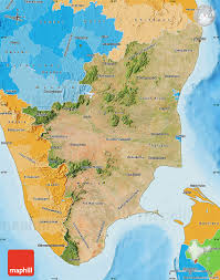 tamil nadu map satellite map of tamil nadu political shades outside