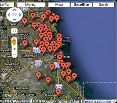 Chicago Google Map by Mapping Survey Locations 20k Homes