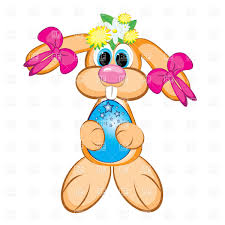 happy easter boy and holding baskets with eggs vector