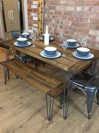 Tolix Dining Table Handmade Rustic Retro Industrial Table And Tolix Chairs And