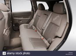 jeep grand cherokee interior seating 2007 jeep grand cherokee limited in gray rear seats stock photo