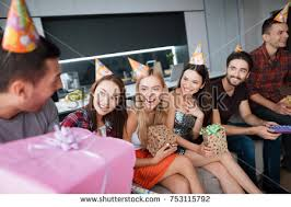 gifts to give the from the of honor party honor birthday guests give their stock photo 753115792
