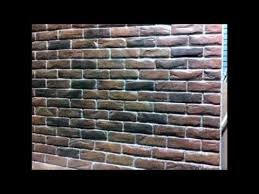 How To Paint A Brick Wall Exterior - brick wall creative painting techniques youtube